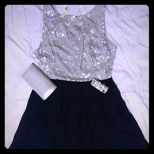 Sequin chiffon party/affair dress